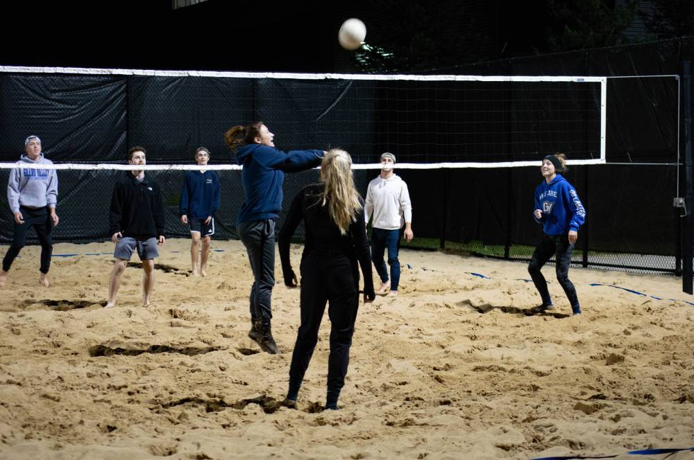 intramural sports - volleyball action